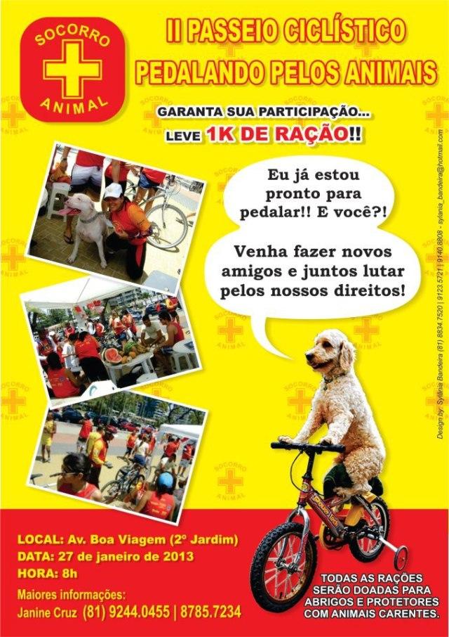 II PASSEIO CICLÍSTICO PEDALANDO PELOS ANIMAIS - RECIFE / PE